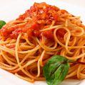 料理メニュー写真シンプルトマトとバジルのフェデリーニ