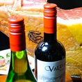 スペイン産生ハム~ハモンセラーノ~はワインはもちろんビールにも合うCLARK人気の逸品です。ママ会や交代勤務の方向けに昼宴会もOK♪
