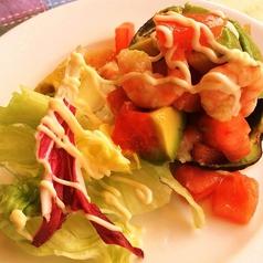小海老とアボガドのサラダ