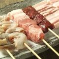 料理メニュー写真ハツ(心臓)/ミノ(胃袋)/カシラ(ツラミ)/