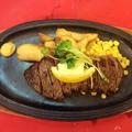 料理メニュー写真アメリカンステーキセット(サーロイン250g)