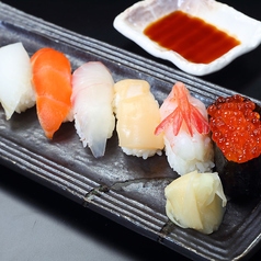 本日の握り寿司七貫