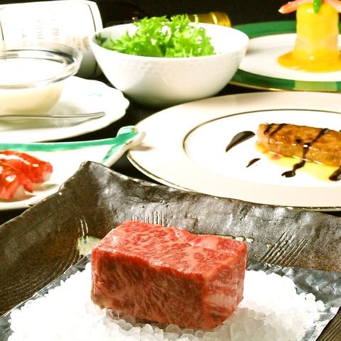 佐賀牛を中心に厳選素材を焼き上げます。骨董通り沿いの、隠れ家的鉄板焼きレストラン