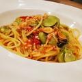 料理メニュー写真SAKURAエビとそら豆のアーリオ・オーリオ・ペペロンチーノ