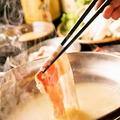 料理メニュー写真とん仙しゃぶしゃぶ (豚肉盛り合わせ・お野菜盛り合わせ)