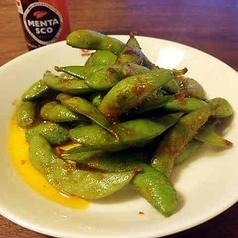 枝豆のペペロンチーノ風