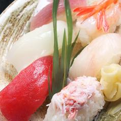 料理メニュー写真握り寿司盛合せ6貫