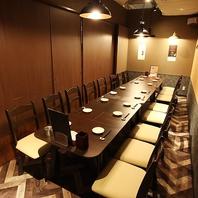 水戸オーパ店・総席数80席、個室席も多数完備。