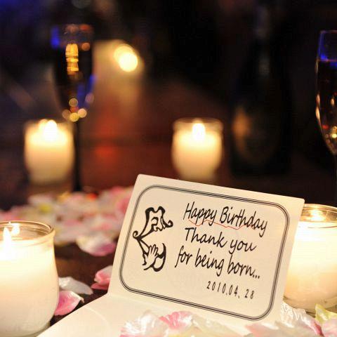 誕生日のお客様必見!1日先着5組様限定でグラム特製ホールケーキ無料贈呈♪サプライズ好きのスタッフが主役を喜ばせるためご協力いたします!