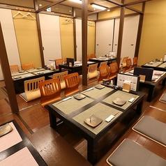 4名様テーブル最大24名様の掘りごたつ席がございます。