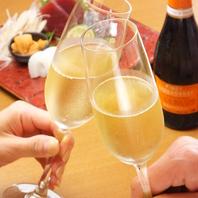 お祝いコースご注文でシャンパン1本をプレゼント!