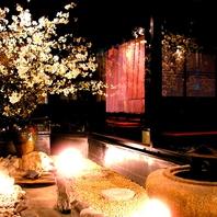 まるで京都に来たような情緒溢れる空間でおもてなし