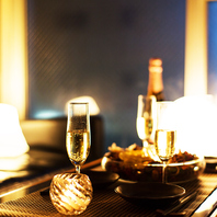 恵比寿の夜景を眺める非日常的な時間へ招待致します。