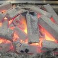 炭が熱々に燃え盛っとります♪