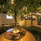 緑や木材を活かしたガーデン風の店内は、天井も高く開放感抜群☆渋谷駅から道玄坂をまっすぐ2分という集合にも好立地!