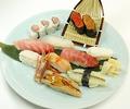 料理メニュー写真おまかせ寿司(でかネタ)