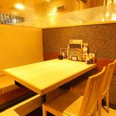 4名様用のテーブル席完備!!様々なシーンにご利用頂けます。