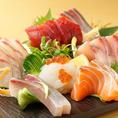 鶏だけではなく富山湾で獲れた鮮度抜群のお造りもお酒と一緒に堪能していただけます♪広々とした個室でゆっくりお食事をお楽しみいただけます!