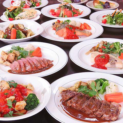 厳選素材にシェフ自慢の料理と明るい空間、共に楽しいひと時をどうぞ。