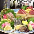 料理メニュー写真京丹後・間人(たいざ)直送天然魚 本日の御造り盛合せ