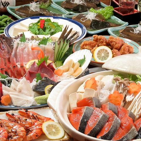 海鮮料理は『瑠玖&魚平』におまかせ♪少人数~大人数迄対応!!宴会メニュー3240円~