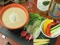 料理メニュー写真厳選野菜のしらすバーニャカウダ