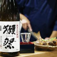日本酒の人気銘柄『獺祭』もご用意!