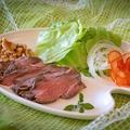 料理メニュー写真国産牛のオリジナルローストビーフ
