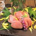 料理メニュー写真本マグロのツノトロ刺身