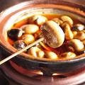 料理メニュー写真あっちっちシャンピ茸の辛オイルフォンデュ