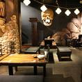 海賊船をモチーフにした「CARRIBEAN CAFE(カリビアンカフェ)」。ワクワク楽しめる店内で楽しく食事をしよう!