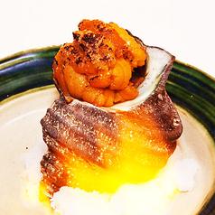 料理メニュー写真サザエのウニ焼き