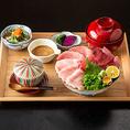 ■カジュアルに本格和食を 新鮮な海鮮を使用した御造里・天ぷら・煮付けに焼魚まで、職人の技が光る本格和食をご堪能いただけます!