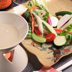 信州地物野菜十種のバーニャカウダサラダ