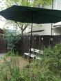 緑豊かな空間は、落ち着いた雰囲気。