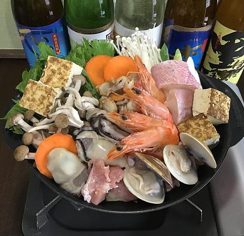 【要予約】海鮮鍋コース1人前3850円(税込)