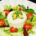 料理メニュー写真自家製豆腐サラダ