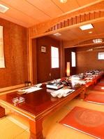 30名様まで利用可能な座敷個室完備!