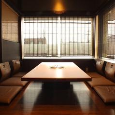 2階は全席、半個室のお座敷席です。