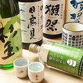 【豊富な日本酒】オリジナルの日本酒や、豊富な種類の日本酒をお楽しみ頂けます。迷われた方はスタッフまでお気軽にどうぞ♪