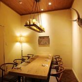 パーテーションで仕切れる半個室はプライベート感が満載の空間♪女子会やママ会などに最適です
