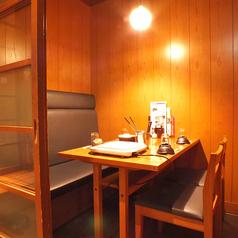 「2部屋限定」4名様用 片側ソファのテーブル個室席