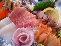 豊富な地魚の料理