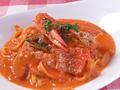 料理メニュー写真渡り蟹のトマトクリーム(生パスタ)