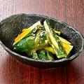 料理メニュー写真タタキ胡瓜~辛子味噌和え~