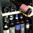 ワインセラー完備!お料理に合わせたワインをご提供。シェフ自らイタリアへ渡り、買い付けてきた豊富なワインが充実!!リーズナブルなものから希少な1本まで…きっとあなた好みの1杯が見つかります。