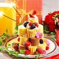 ★誕生日サプライズ★お祝いにはメッセージ付デザートプレートプレゼント♪