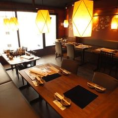 落着いてお食事をお楽しみ頂ける情緒あふれる和空間★人数によってお席をアレンジできます。