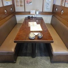 BOXタイプのテーブル席。ご家族や仲間内の飲み会に◎