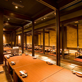 店内は掘りごたつのお席を完備。足をのばしてごゆっくりとお過ごしいただけます。個室は、人数に合わせて2名様のプライベート空間から、小宴会、最大60名様の大宴会まで様々なお席をご用意しております。京橋駅すぐの居酒屋をお探しなら、ぜひ なかの家京橋店へお越し下さい!